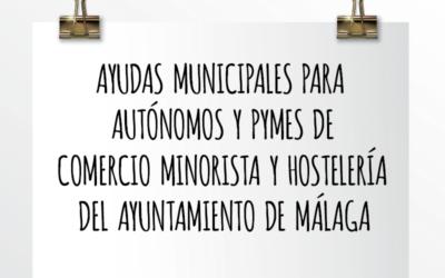 EMEDE ETL Global: Ayudas municipales para autónomos y pymes de comercio minorista y hostelería del Ayuntamiento de Málaga.
