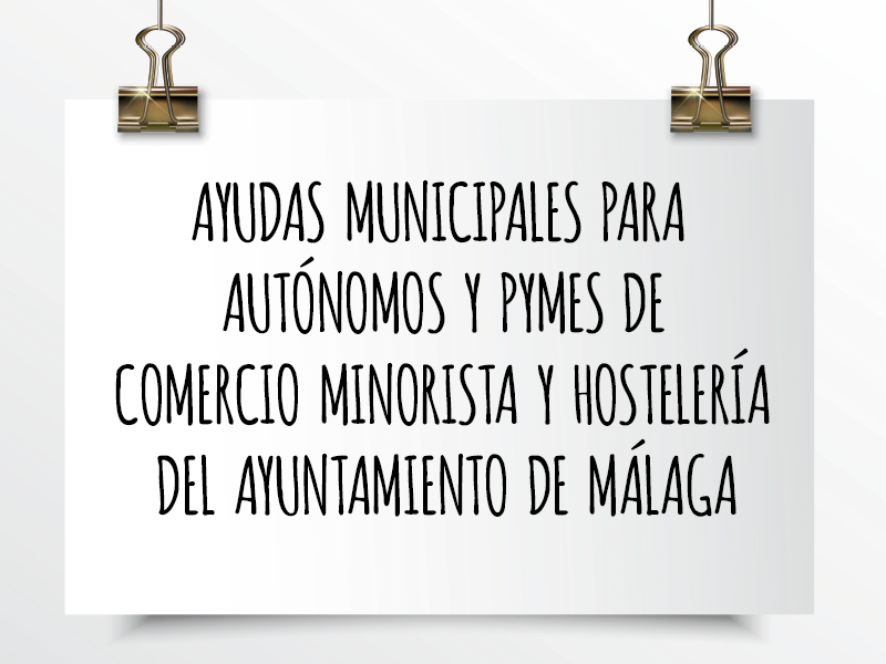 Ayudas municipales para autónomos Málaga